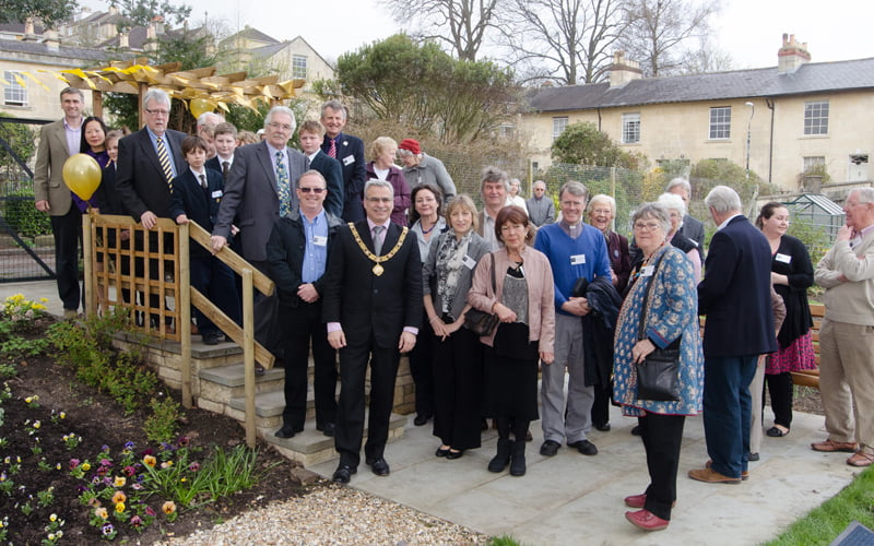 Goldies Garden opened by the Mayor of Bath