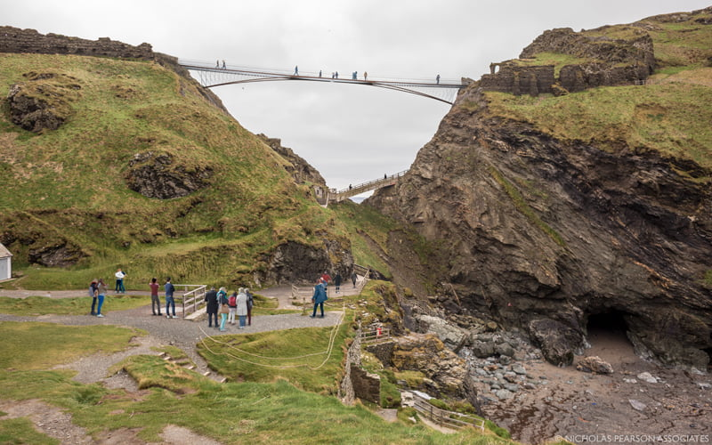 Tintagel Castle Footbridge and Footpaths