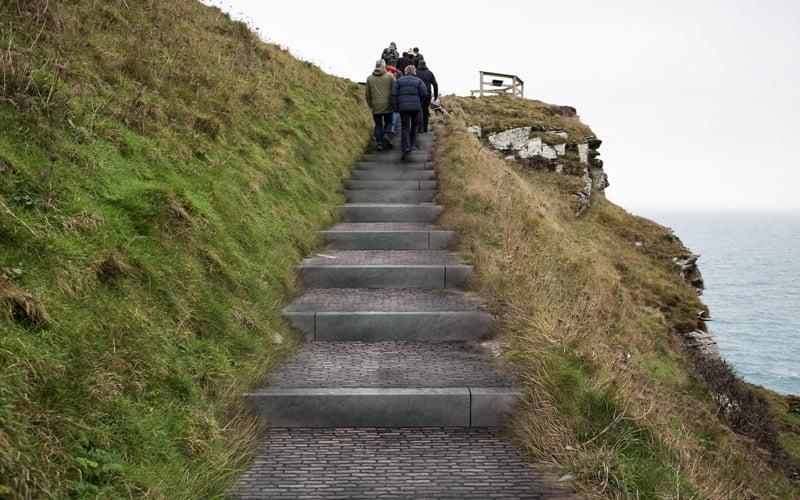 Tintagel Castle steps