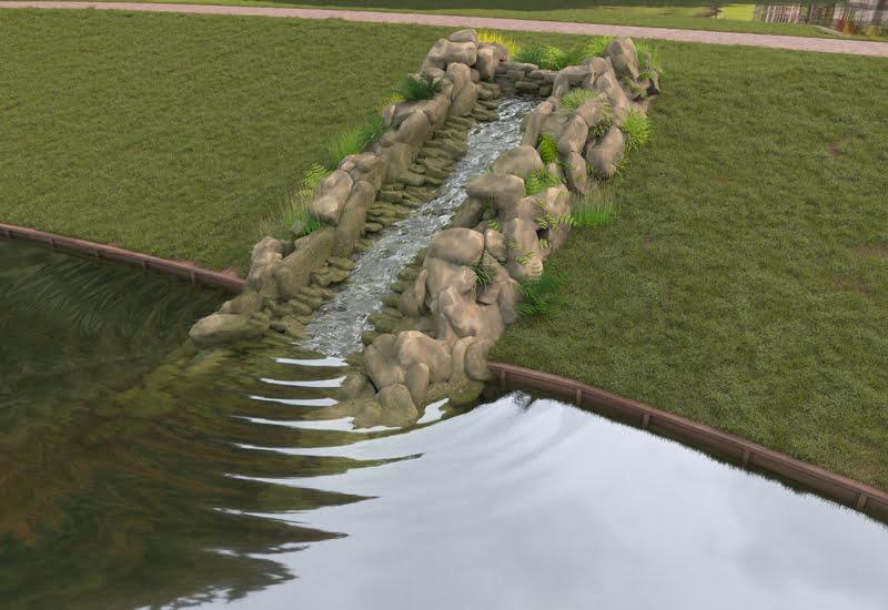 Prior Park CGI Cascade