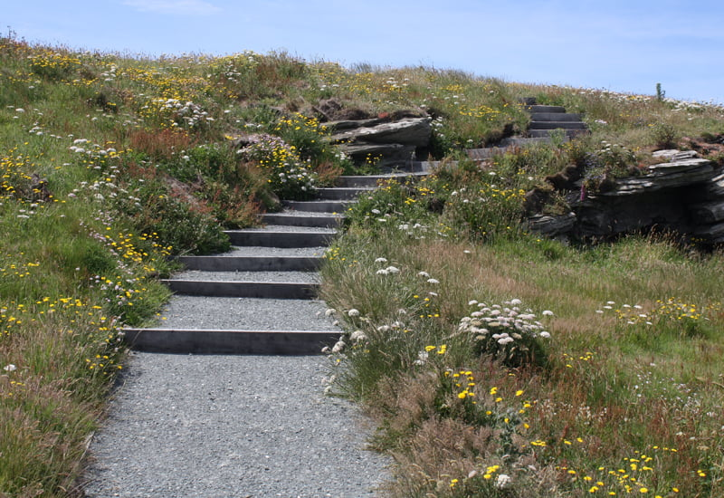 Footpaths lead visitors to discover more at Tintagel Castle