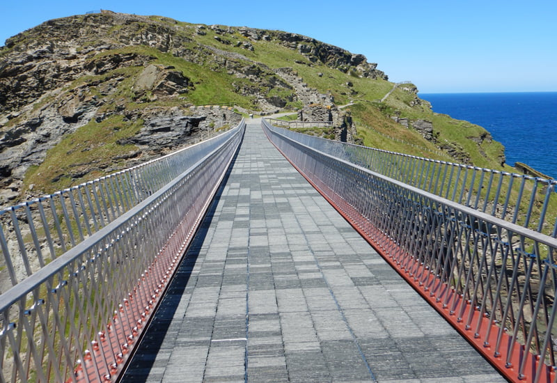 Insights - Tintagel cantilevered footbridge connects to the island
