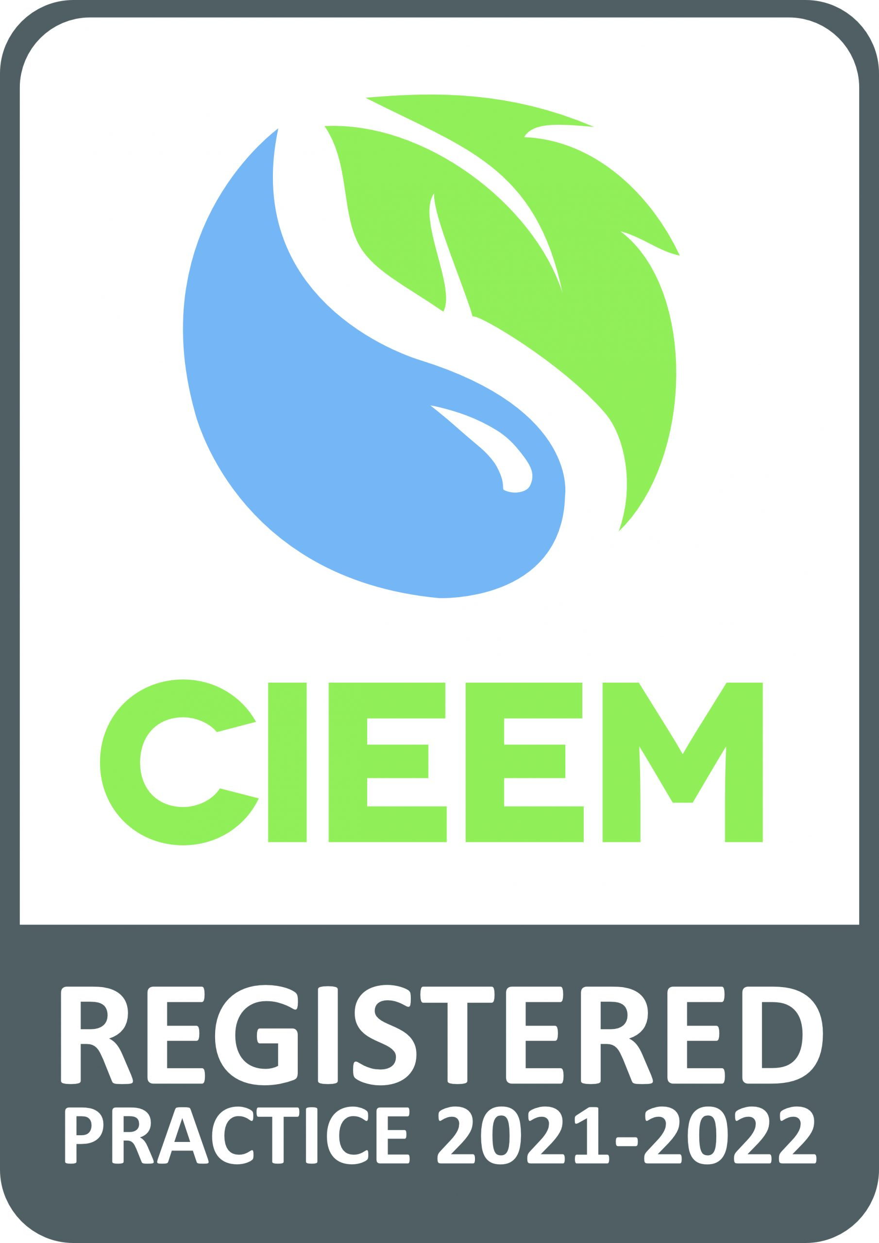 CIEEM Registered Practice logo 2021 2022